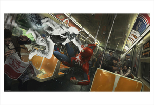 Marvel's Spider-Man: Spider-Man vs. Mister Negative Subway Battle Concept (print), Insomniac Games