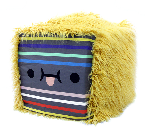Stripe Face Cube (Handmade One of a Kind; Sewn by Jenny Luna), Crowded Teeth