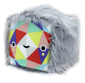 Triangle Face Cube (Handmade One of a Kind; Sewn by Jenny Luna), Michelle Romo