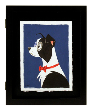 Black and White Border Collie, Elsa Chang