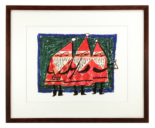 Three Santas, Mary Blair