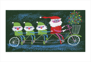 Santa and his Elves (print), Mary Blair