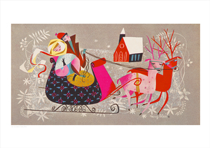 Sleigh Ride (print), Mary Blair