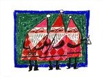 Three Santas (print), Mary Blair