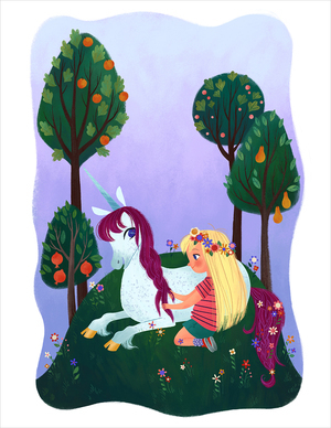 Uni the Unicorn: pg 21 (print), Brigette Barrager
