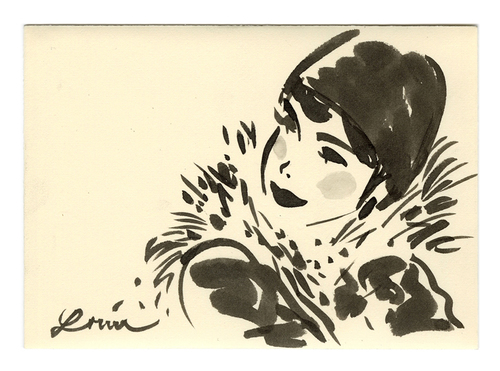 Woman in Scarf, Louie del Carmen