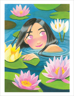 Water Lily (print), Sunmee Joh