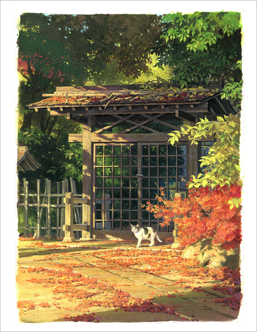 I'm Taking a Walk - Autumn (print), Yohichi Nishikawa
