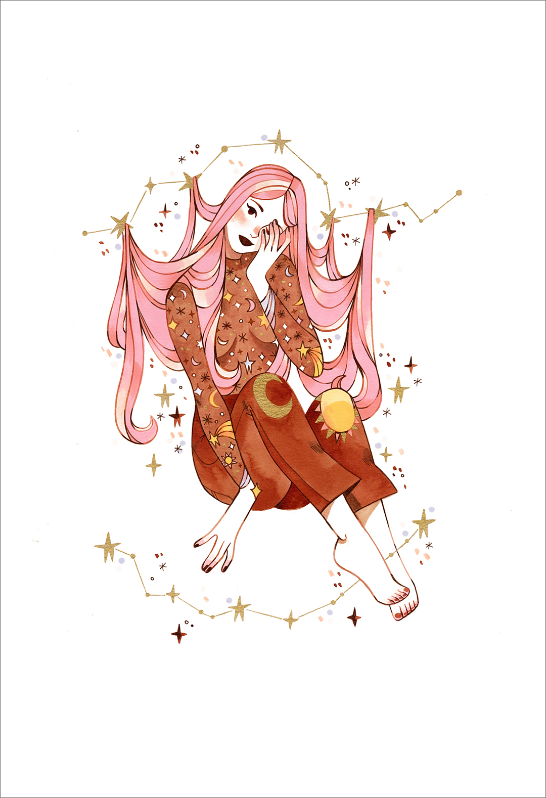 Fairy Lights (print), Sibylline Meynet
