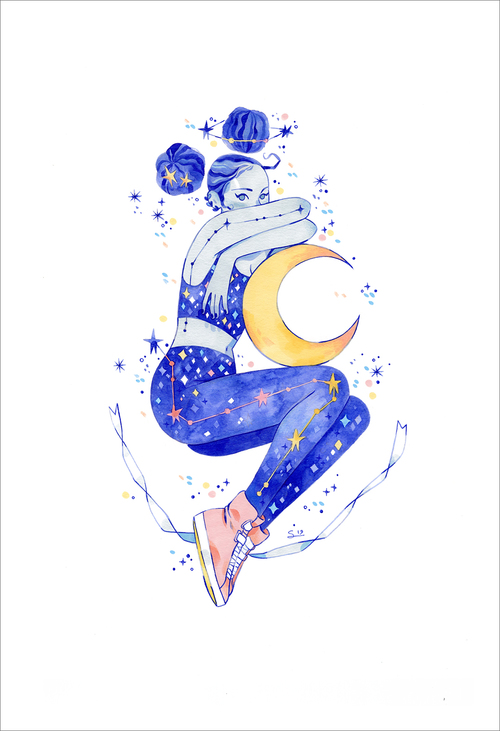 Into the Night (print), Sibylline Meynet