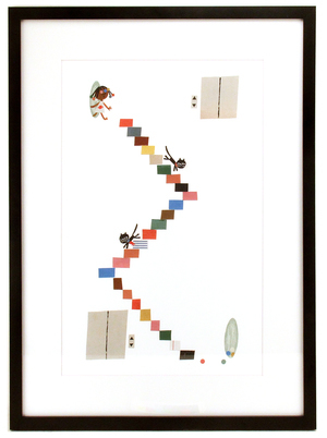 Stair Chase PRINT (FRAMED), Christian Robinson
