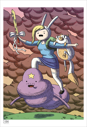 Fionna, Cake and Lumpy Space Prince (Print), Matthew Houston