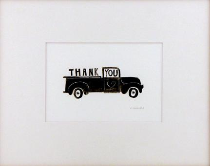 Grateful Truck (Matted Print), Chris Sasaki