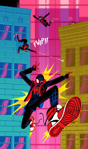 Friendly Neighborhood Spider Man (Print) (Spider-Verse), Sara Kipin