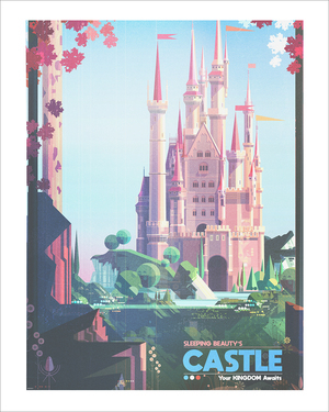 Sleeping Beauty (print), James Gilleard