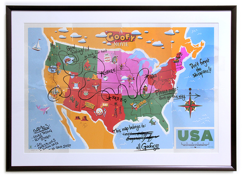 CYCLOPS PRINT WORKS: This Map Belong to: ALL Goofeys (FRAMED #1), Claire Hummel