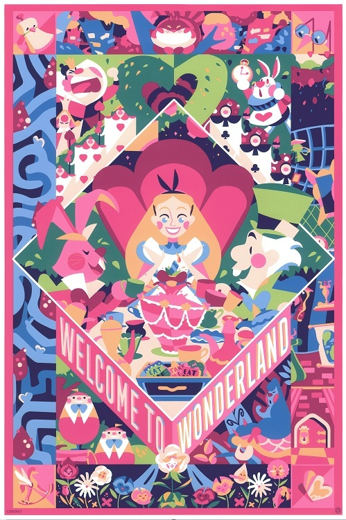 CYCLOPS PRINT WORKS: Welcome to Wonderland (print), Doki Rosi