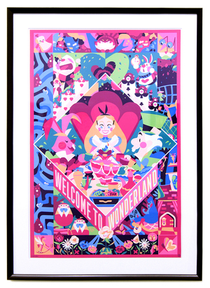 CYCLOPS PRINT WORKS: Welcome to Wonderland (FRAMED #1), Doki Rosi