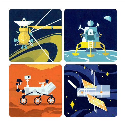 Space Explorers (print), Michelle Lin
