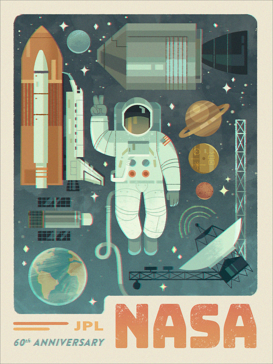 60 Years of Space Exploration (print), Vincent Chen