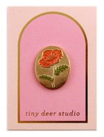 California Poppy Pin - Tiny Deer Studio