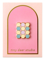 Tile Enamel Pin - Tiny Deer Studio