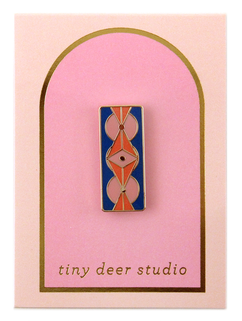 Circle Dot Triangle Enamel Pin - Tiny Deer Studio
