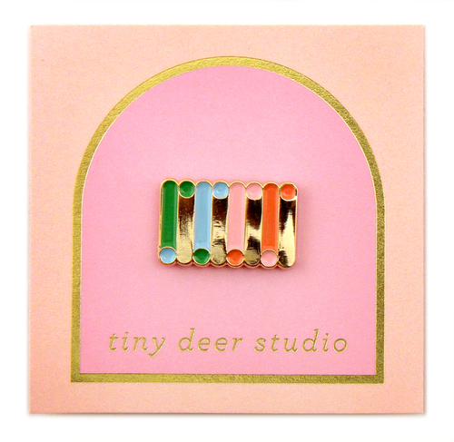 Tubes Enamel Pin - Tiny Deer Studio