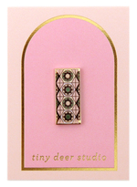 Geo Flower Tile Pin - Tiny Deer Studio