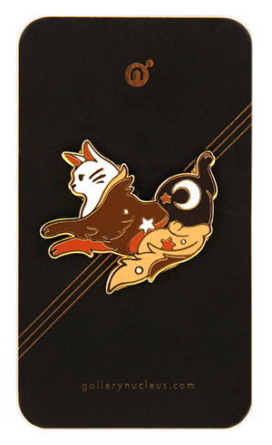 Cosmic Cat (Abu) by Mall -  Nucleus Enamel Pin, Mall