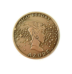 Azure Commemorative Iron Coin by Nico Delort , Nico Delort