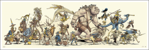 Travelers of the Five Kingdoms - Color  (print), Jake Parker