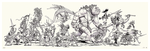 Travelers of the Five Kingdoms - Black and White (print), Jake Parker
