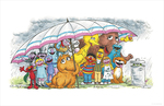 Friends Can Help You Weather Any Storm - Love the Fur You're In (print), Joe Mathieu