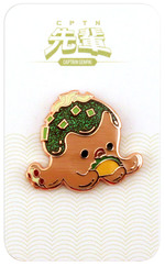 Tacoyaki Hard Enamel Pin - Captain Senpai