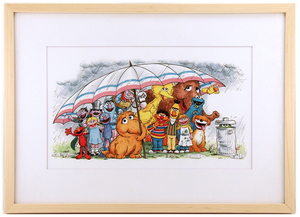 Friends Can Help You Weather Any Storm - Love the Fur You're In (Framed Print), Joe Mathieu