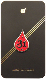 Jake Parker Red Inktober 31 - Nucleus Enamel Pin, Jake Parker
