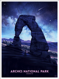 Arches National Park (The Fifty-Nine Parks Print Series), Nicolas Delort
