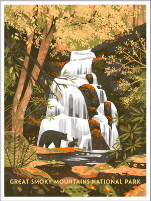 Great Smokey Mountains National Park (The Fifty-Nine Parks Print Series), Chris Turnham