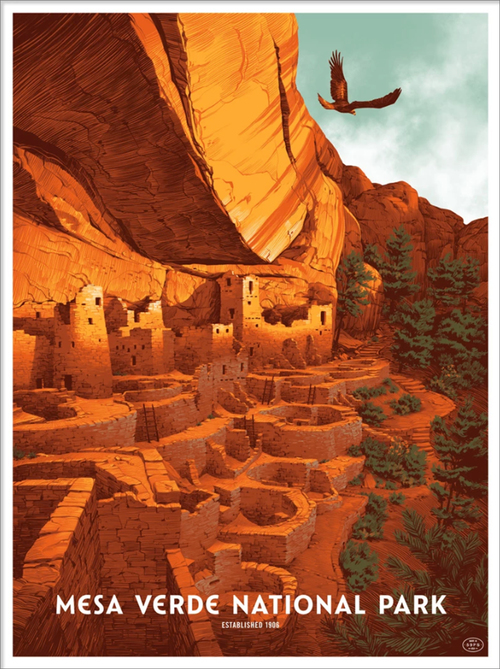Mesa Verde National Park (The Fifty-Nine Parks Print Series), Claire Hummel