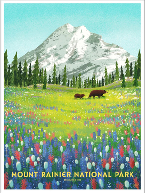Mount Rainier National Park (The Fifty-Nine Parks Print Series), Glenn Thomas