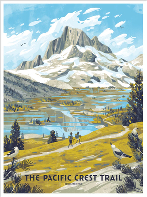 The Pacific Crest Trail  (The Fifty-Nine Parks Print Series), Chris Turnham