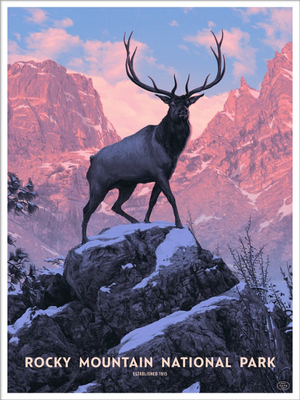 Rocky Mountain National Park VARIANT  (The Fifty-Nine Parks Print Series), Rory  Kurtz