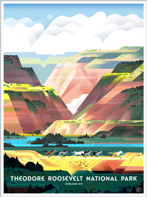 Theodore Roosevelt National Park (The Fifty-Nine Parks Print Series), Elle Michalka
