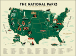 US National Parks VARIANT  (The Fifty-Nine Parks Print Series), Brave the Woods