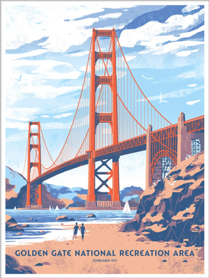 Golden Gate National Park (The Fifty-Nine Parks Print Series), Chris Turnham