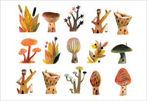 Mushrooms (print), Matthew Forsythe