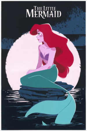 The Little Mermaid (silkscreen), Pernille Ørum