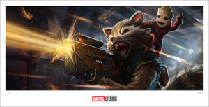 (Guardians of the Galaxy Vol 2) Rocket Baby Groot (print), Jackson Sze