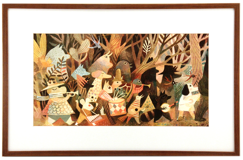 Pokko: Marching Band (FRAMED print), Matthew Forsythe